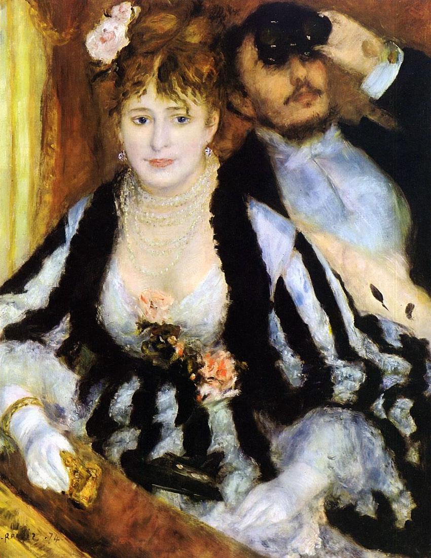 Pierre-Auguste Renoir 1841-1919 | La Loge, 1874