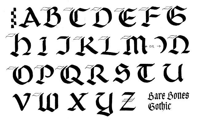 Margaret Shepherd: Calligraphy Blog: 213 Bare Bones Gothic