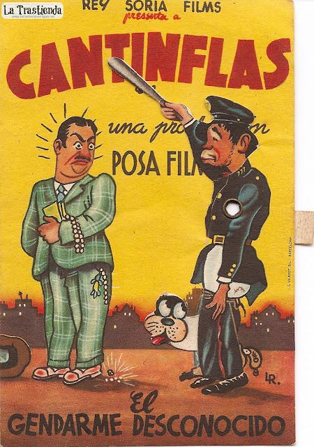 El Gendarme Desconocido - Folleto de mano - Troquelado - Cantinflas - Mapy Cortés