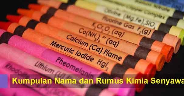 Kumpulan Nama Dan Rumus Kimia Senyawa Lengkap Dalam Bentuk Tabel Blog Kimia