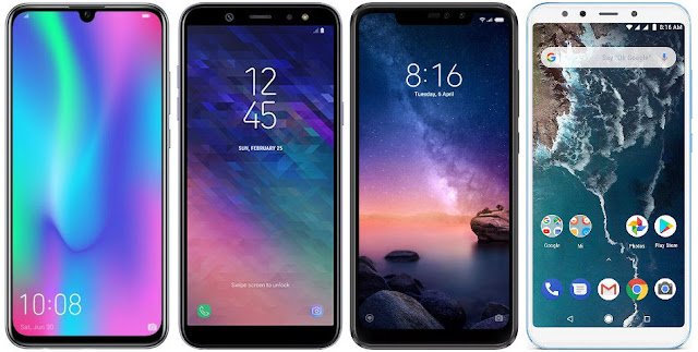 Honor 10 Lite vs Samsung Galaxy A6+ vs Xiaomi Redmi Note 6 Pro 64G vs Xiaomi Mi A2 64G