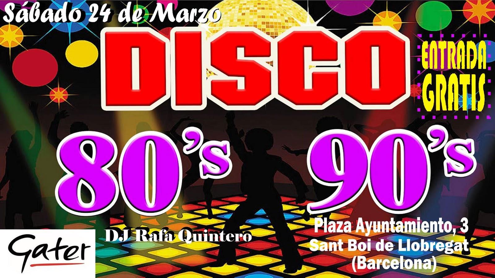 Flyer Fiesta 80s 90s (Entrada Gratis)