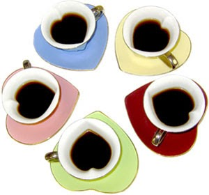 TwentyOne: Heart Tea cups