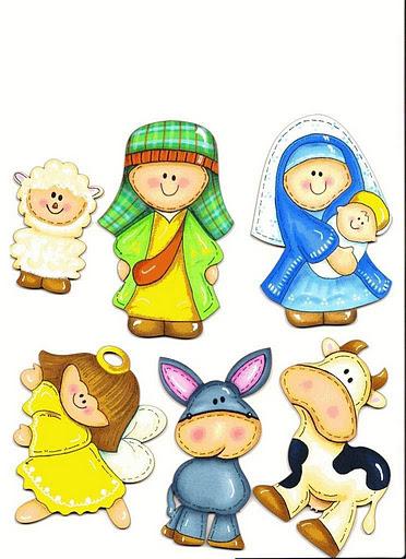 Peques y pecas recursos adviento y navidad - Figuras belen infantil ...