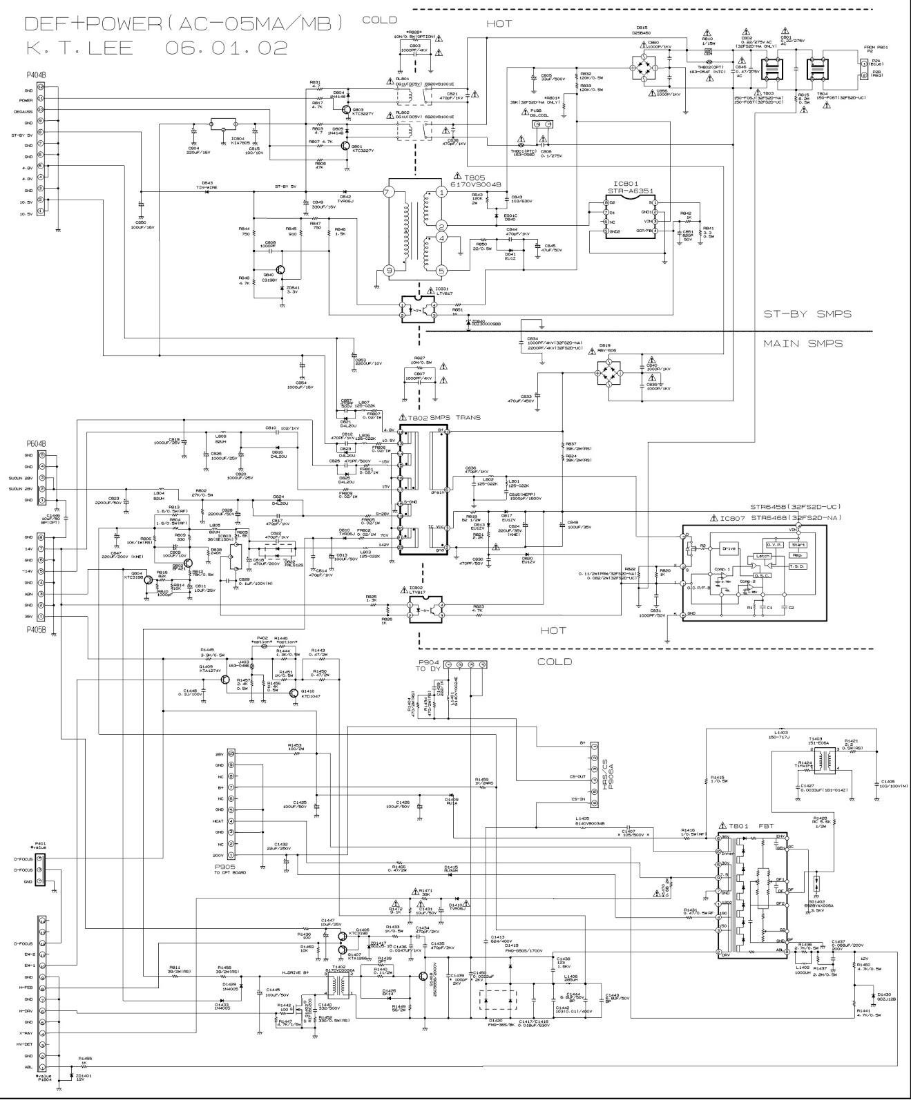 LG 30FS4D LG 32FS4DUC Color Television Circuit