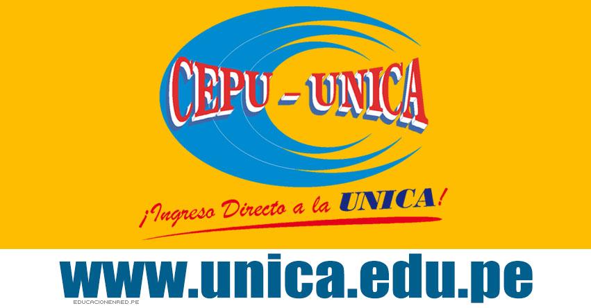 Resultados CEPU UNICA 2018-2 (16 Diciembre) Lista Aprobados Segundo Examen - Centro de Estudios Preuniversitarios - Universidad Nacional «San Luis Gonzaga» de Ica - www.unica.edu.pe