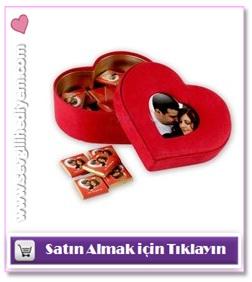 sevgiliye mesajlı ve fotoğraflı çikolatalar