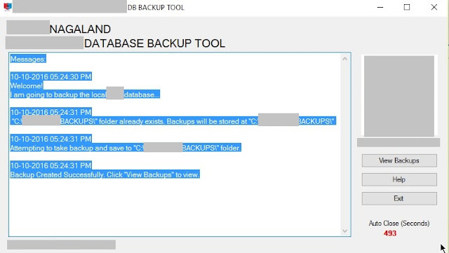VB.NET Example Code How to backup MySQL Database using mysqldump command in VB 2