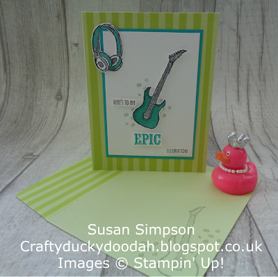 Stampin' Up! UK Independent  Demonstrator Susan Simpson, Craftyduckydoodah!, Epic Celebrations, Coffee & Cards Project February 2018, Supplies available 24/7 from my online store,