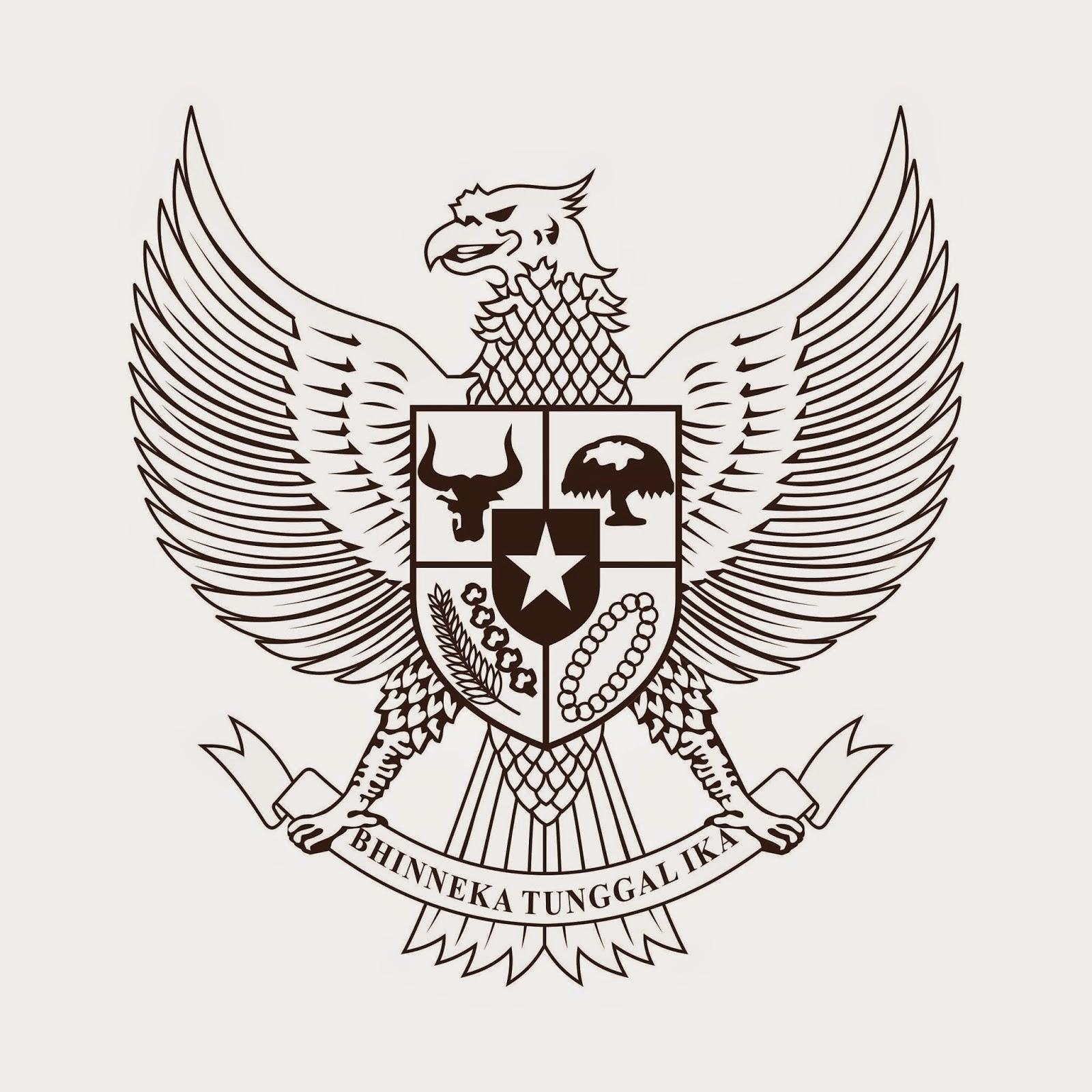 Sketsa Gambar Garuda