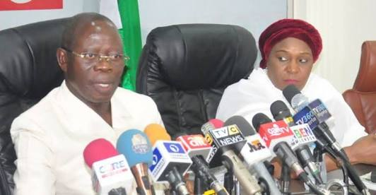 SARAKI's TIME IS UP - Oshiomhole insists, gives strong condition