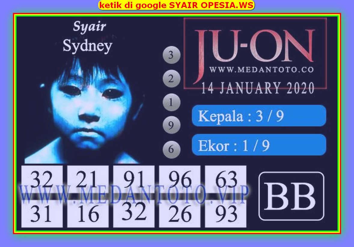 Kode syair Sydney Selasa 14 Januari 2020 111