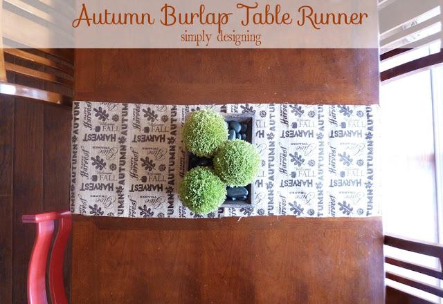 Fall Burlap Table Runner | perfect fall or Thanksgiving table decor for a tablescape | #falldecor #thanksgiving #turkeytablescapes #burlap