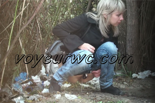 PissHunters 9300-9315 (Outdoor voyeur peeing. Voyeur public toilet spy cam)