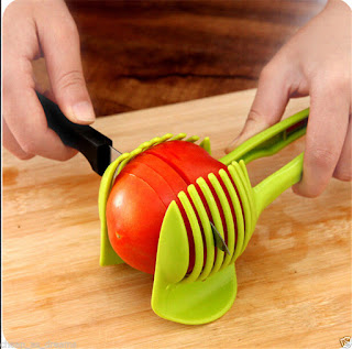 Tomato Fruit Cucumber Vegetable Salad Slicer Cutter Potato Onions *RANDOM COLOUR WILL BE SENT* CHEAPEST ON EBAY only £1.35* FREE P&P