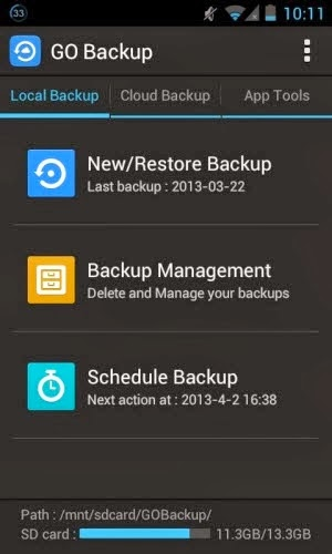 Go Backup & Restore Pro Android App