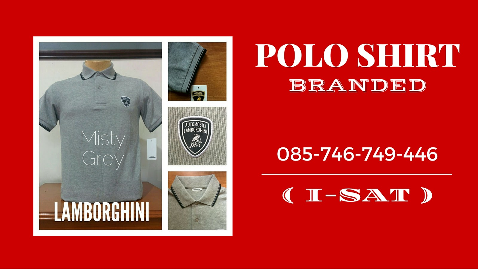 085 746 749 446 I Sat Kaos Polo Shirt Branded Polos Red Misty Jual