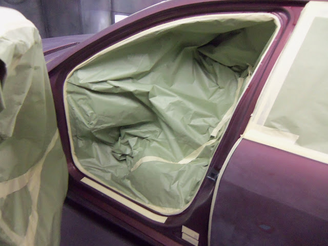 Door jams are a very intricate item to mask on any car (Almost Everything Autobody)