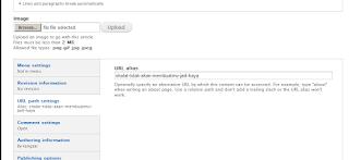 url path atau setting url artikel drupal
