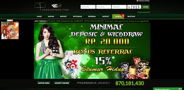 AnekaPoker - Situs Poker Hadiah Terbesar