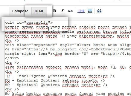 html postsplit