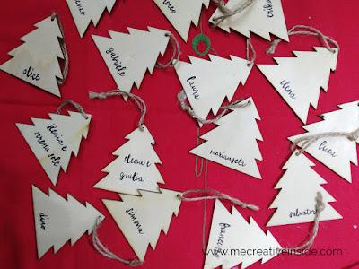 personalizza delle sagome di legno con la calligrafica