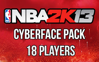NBA 2K13 Cyberface Pack Mod