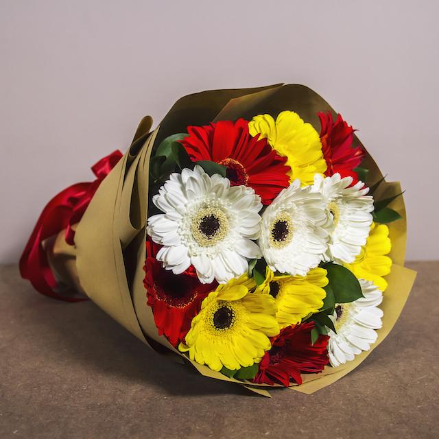 Make it a colourful flower bouquet