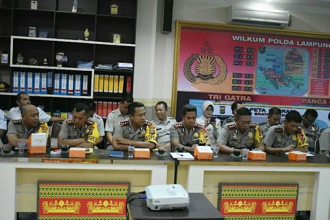Tim Srena  Mabes Polri Melaksanakan Rapat Verifikasi Data Perubahan Tipe Polda Lampung,Dan Pembentukan Polres Tubaba