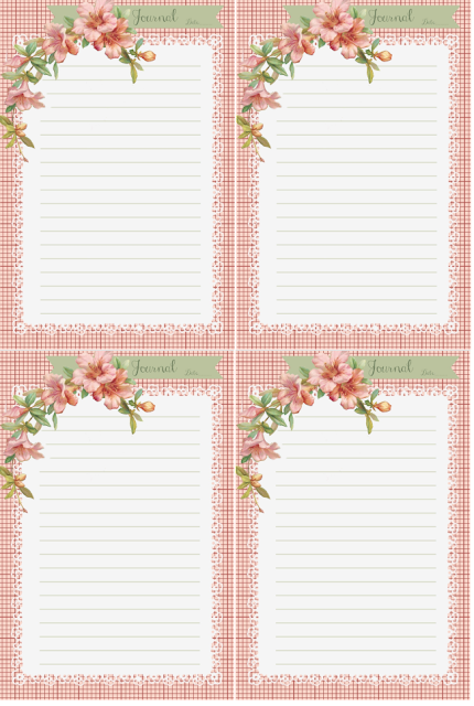 Fan image for free printable journal cards