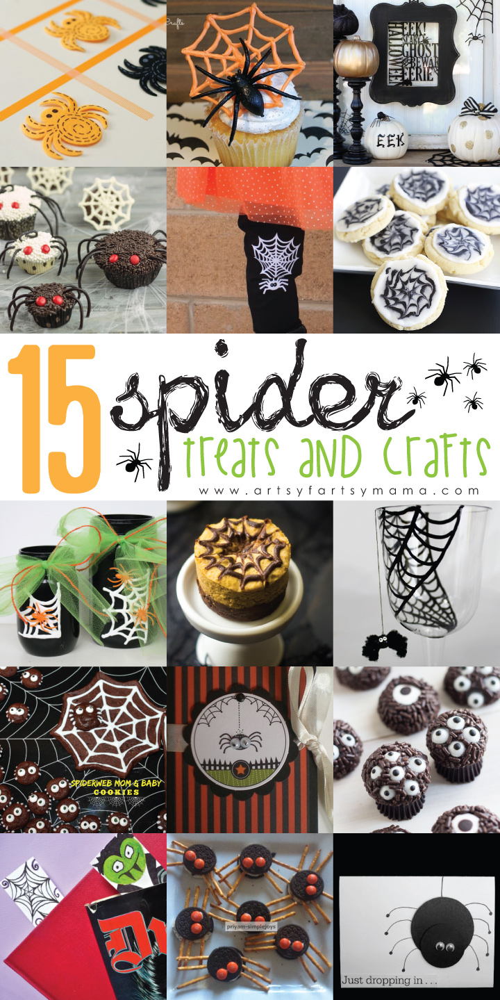 15 Spider Treats & Crafts at artsyfartsymama.com