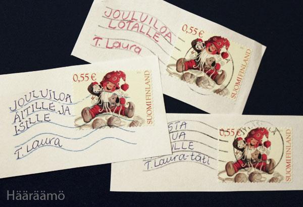 Pakettikortti postimerkistä