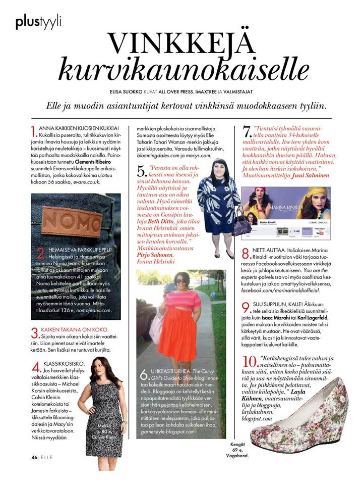 Elle Finland, Beth Ditto, plus size fashion