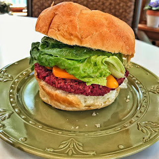 pinto bean-beet burger recipe, bean burger, veggie burger, vegan, vegetarian, meat alternative,