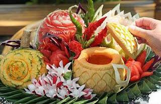 Món ăn ngon hơn với nghệ thuật cắt tỉa, trang trí rau củ quả