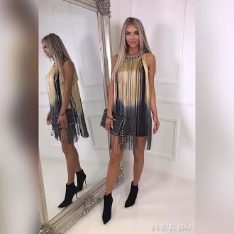Εντυπωσιακό κοντό φόρεμα LAURENA