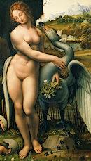 Leda y el cisne, por Francesco Melzi