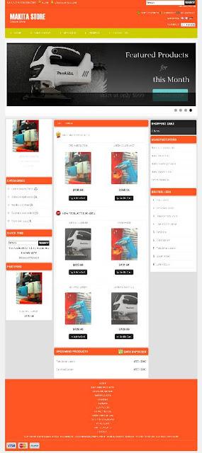 Free osCommerce 2.3.3 Template for Makita Store