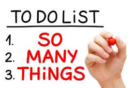 to do list: so many things - avoiding stress while busy
