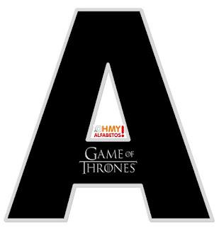 Abecedario con el Logo de Juego de Tronos. Alphabet with Game of Thrones Logo.
