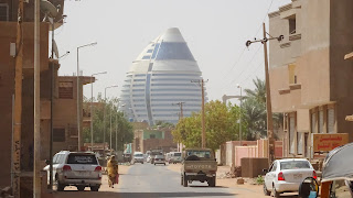 Its just a walk across the bridge to get back to Khartoum