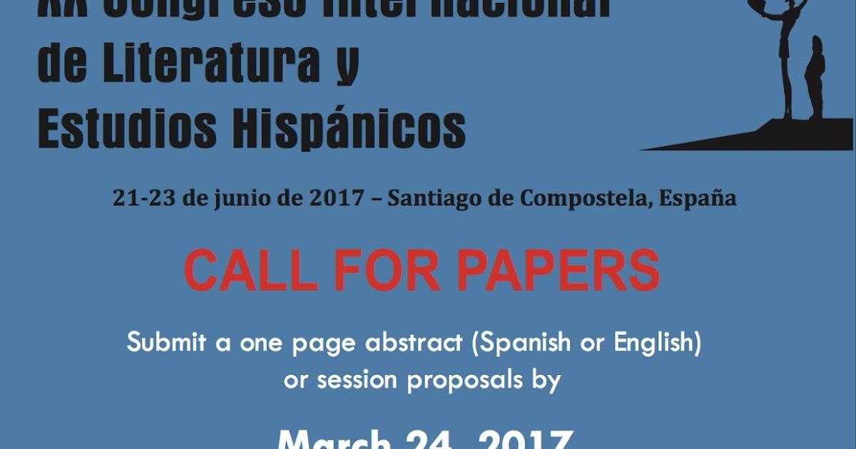 Cfp xx congreso internacional de literatura estudios - Estudios santiago de compostela ...