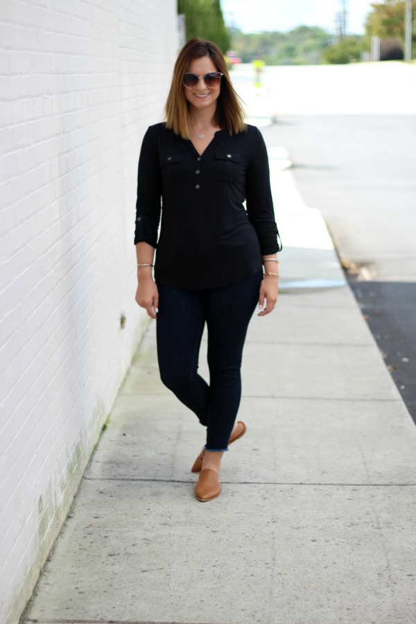 madewell mules, fall fashion, style on a budget, mom style, north carolina blogger