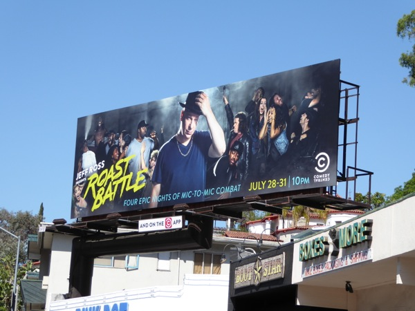 Comedy Central Roast Battle billboard