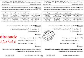 امتحان الرياضيات للسنة الرابعة متوسط فصل 2