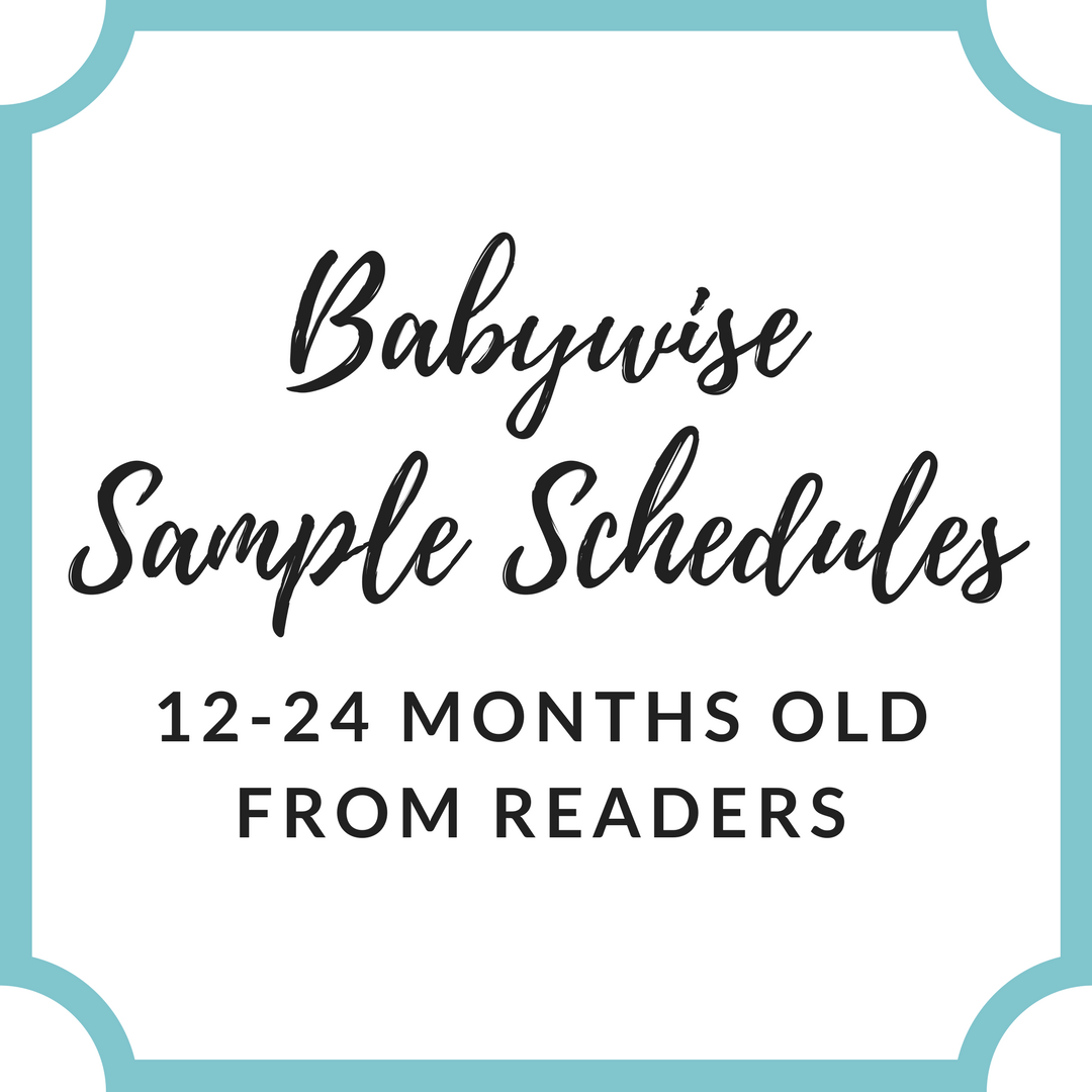 Reader Sample Schedules: 12-24 Months Old - Babywise Mom