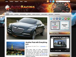 Free AutoRacing WordPress Theme