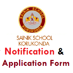 Sainik School Korukonda-Notification-Application Form
