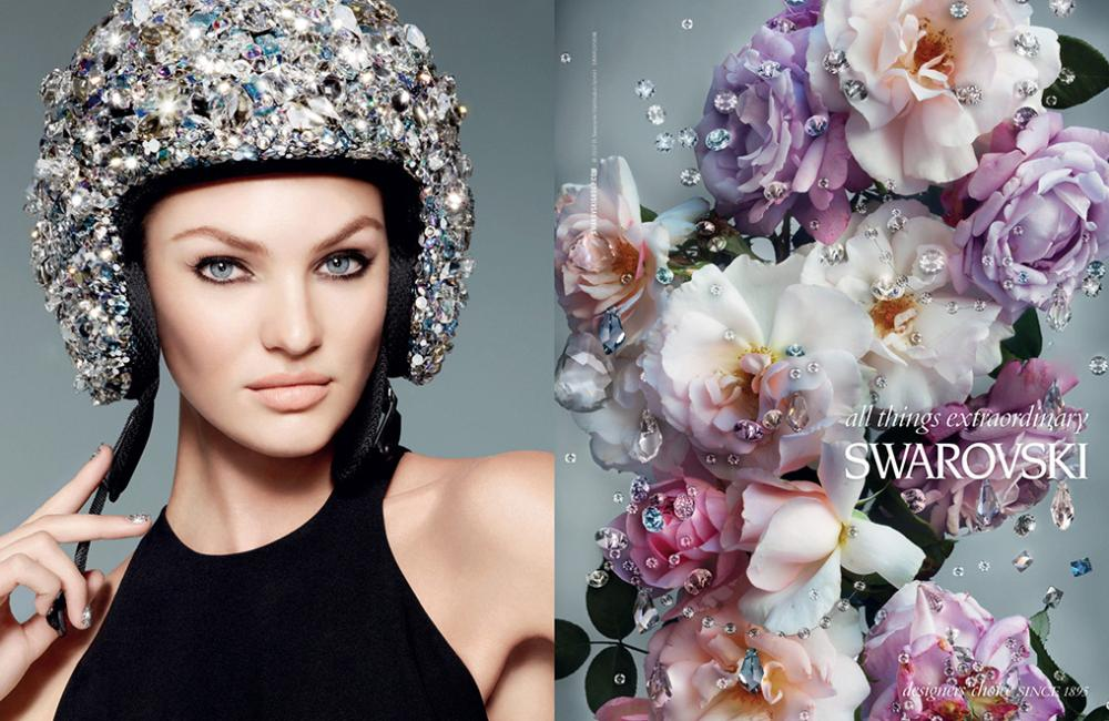 c716ff444d Swarovski Spring Summer 2013 featuring Lily Donaldson and Candice Swanepoel
