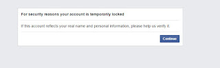 temporary block facebook account